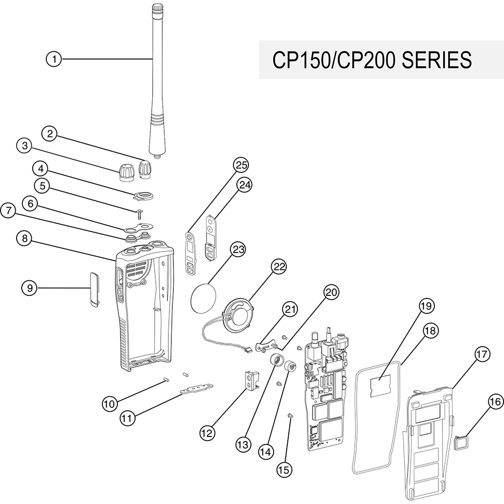 cp150 cp200 parts_3 motorola 1386440z02 escutcheon 16 channel radios radioparts com  at crackthecode.co
