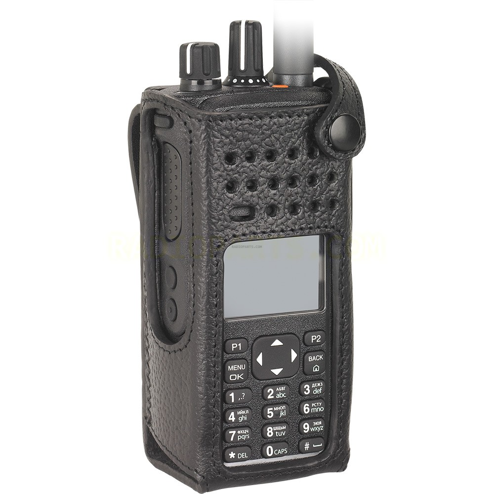 Motorola Pmln5838 Hard Leather Case With Fixed Belt Loop