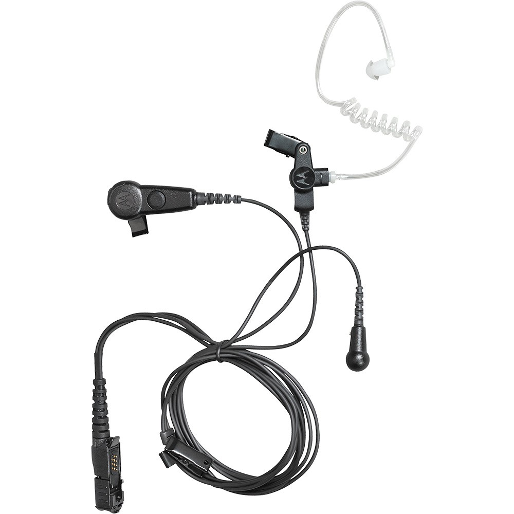 motorola pmln6754a 3-wire black surveillance earpiece - audio - accessories