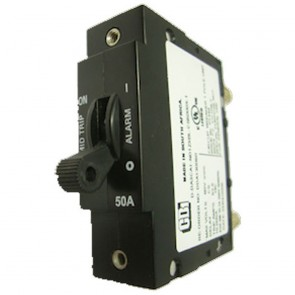 Alpha Technologies 470-300-10 1 Amp AM Breaker, Plug-In type w/ Aux Switch Center Pin Only