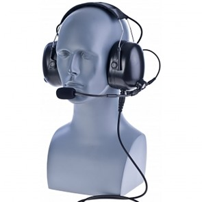 motorola cp200d. impact pdm-2 heavy duty duall muff headset with replaceable cable for motorola cp200d